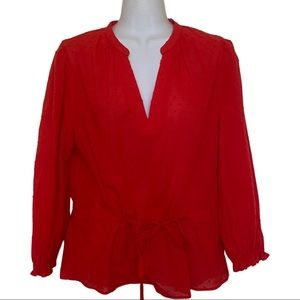 NWT a New Day  Red blouse size Large